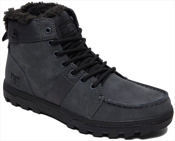DC Woodland Men's Winter Boots, UK 12 Grey/Black