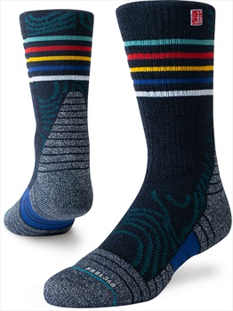 Stance Ulvetanna Trek Crew Jimmy Chin Walking/Hiking Socks, M Navy