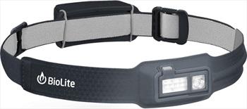 BioLite Headlamp 330 Rechargable Head Torch, 330 Lumens Midnight Grey