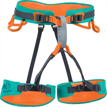 Beal Child Unisex Rookie Kid's Rock Climbing Sit Harness, 50-70cm Teal