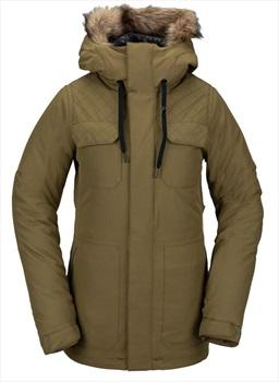 Volcom Shadow Insulated Women's Ski/Snowboard Jacket, Uk 14 Military