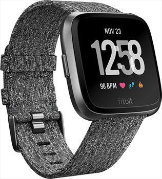FitBit Versa SE Heart Rate & Fitness Smartwatch, Charcoal Woven