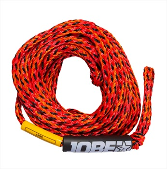 Jobe Heavy Duty Towable Tube Rope, 4 Rider Red Yellow 2020