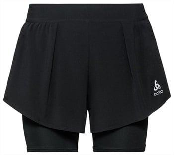 Odlo Zeroweight Ceramicool Pro Women's Running Shorts, XS Black