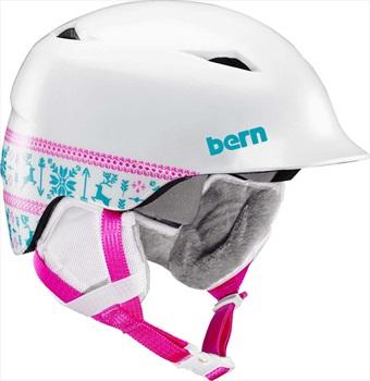 Bern Camino Kid's Ski/Snowboard Helmet, S-M Satin White Fair Isle