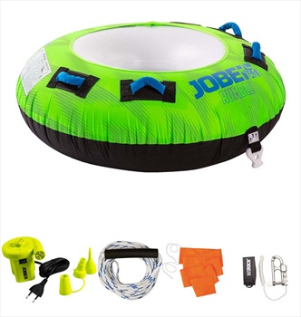 Jobe Rumble Towable Inflatable Tube Package, 1 Rider Green 2020
