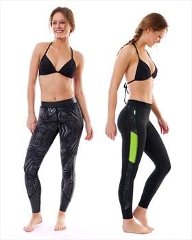 Jobe Verona 1.5 Mm Neoprene Wetsuit Leggins, Small Black Lime 2020