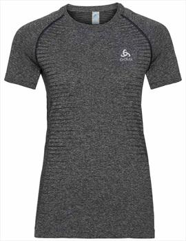 Odlo Seamless Element Women's Short Sleeve T-Shirt, XS Grey Melange