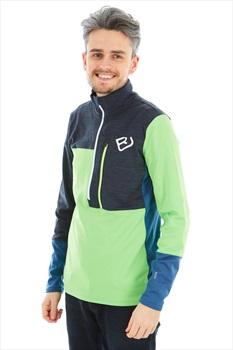 Ortovox Adult Unisex Fleece Light Zip Neck Fleece, M Matcha Green