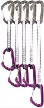DMM Chimera Trad Set Rock Climbing Quickdraws, 5 Pack Purple