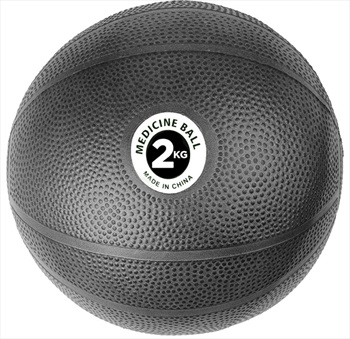 Fitness Mad PVC Medicine Ball, 2KG Black
