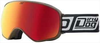 Dirty Dog Bullet Red Fusion Snowboard/Ski Goggles, L Khaki