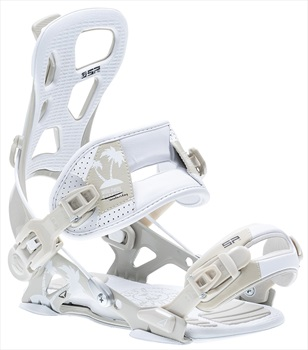SP Adult Unisex Brotherhood Snowboard Bindings, L White/Grey 2020