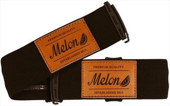 Melon Ski/Snowboard Goggle Strap, Black With Leather Patch