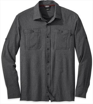 Outdoor Research Wayward Long Sleeve UPF Protective Shirt, L Charcoal