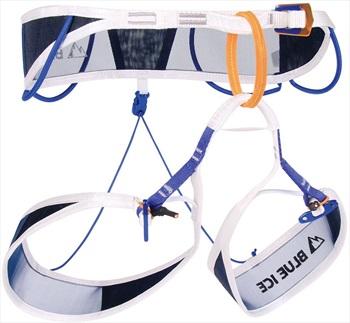 Blue Ice Choucas Pro Alpine Climbing Harness, L White/Blue