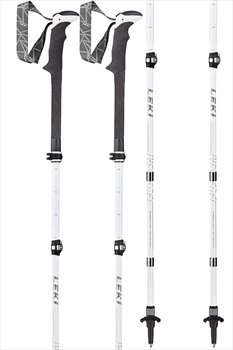 Leki Womens Micro Vario Carbon Lady AS Folding Trekking Poles, White