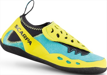 Scarpa Piki J Kid's Rock Climbing Shoe, UK Kids 2.5 Maldive/Yellow