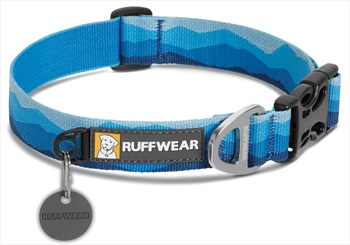 Ruffwear Hoopie Webbing Dog Collar - M, Blue Mountains