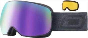 Dirty Dog Mutant Prophecy Purple Snowboard/Ski Goggles, L Matte Black