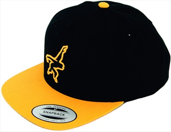 Gibbon Snap Back Baseball Cap, Adjustable, Yellow/Black
