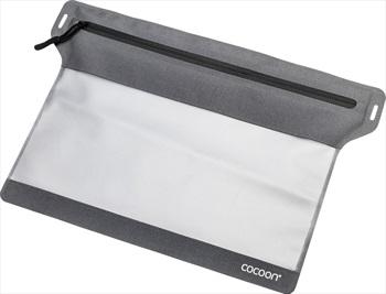 Cocoon Zippered Flat Document Bag Rainproof Travel Pouch, Medium Grey