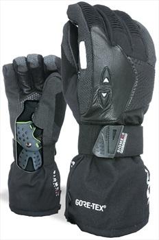 Level Super Pipe XCR Gore-Tex Snowboard/Ski Gloves, S Black