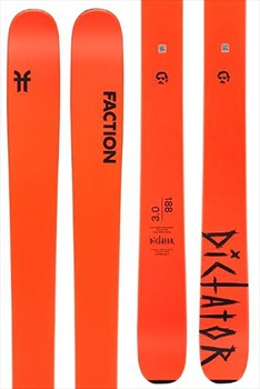 Faction Dictator 3.0 Ski Only Skis, 180cm Orange 2020