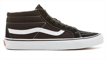 Vans Sk8-Mid Reissue Skate Shoes, UK 12 Black/True White