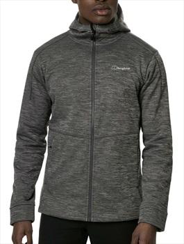 Berghaus Kamloops Full-Zip Hooded Fleece Jacket, S Grey Pinstripe