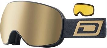 Dirty Dog Mutant 2.0 Gold Mirror Ski/Snowboard Goggles, L Matte Black