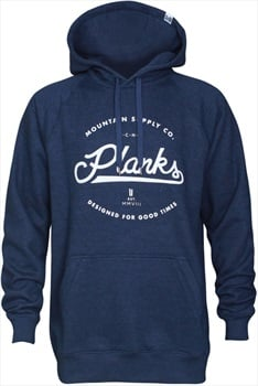 Planks Mountain Supply Co. Hoodie, M Navy