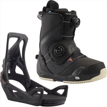 Burton Felix Step On Womens Snowboard Binding & Boots, UK 8 Black 2020