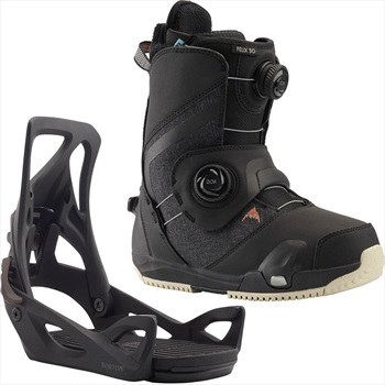 Burton Felix Step On Womens Snowboard Binding & Boots, UK 4 Black 2020