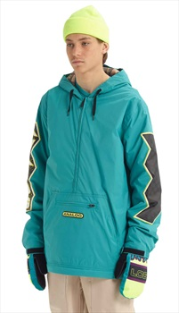 Analog Chainlink Anorak Pull Over Snowboard/Ski Jacket, M Green-Blue