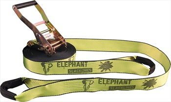 Elephant Slacklines Rookie Flash'line Slackline, 15m X 50mm Neon