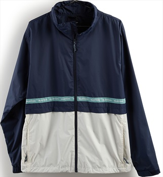 Burton Melter Waterproof Windbreaker Jacket, M Dress Blue/Stout White