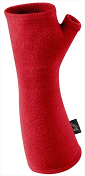 Manbi Junior Micro Fleece Wrist Warmers, Kids True Red