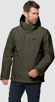 Jack Wolfskin Gotland 3 In 1 Shell Jacket, S Dark Moss