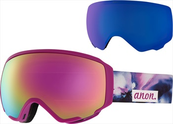 Anon WM1 Sonar Pink Women's Ski/Snowboard Goggles, L Watercolour