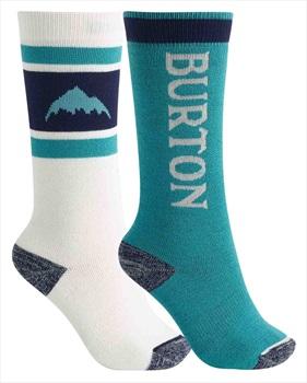 Burton Weekend Midweight 2PK Kid's Ski/Snowboard Socks, M\L White