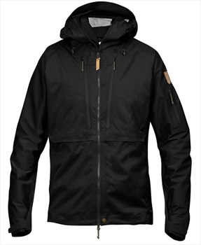 Fjallraven Keb Eco-Shell Waterproof Hiking Jacket, L Black
