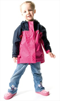 Bushbaby Rip-Stop Jacket Kid's Waterproof Hooded Coat 4 Years Old Pink