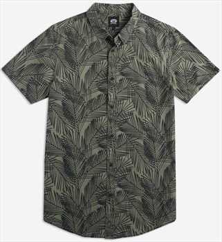 Animal Tearup Short Sleeve Shirt, L Dusty Olive Green