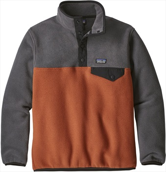 Patagonia Boys Synchilla Snap-T LW Pullover, Age 10 Copper Ore