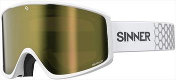 Sinner Sin Valley Gold/Orange Snowboard/Ski Goggles M Matte White