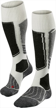Falke Womens SK1 Merino Wool Women's Ski Socks, UK 7-8 Offwhite