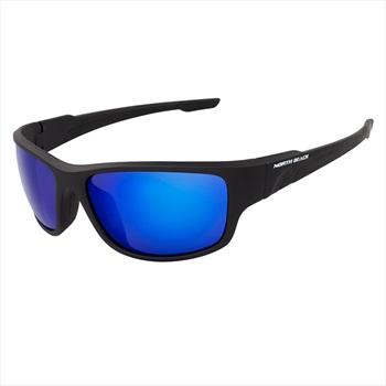 North Beach Grenadier Blue Polarised Sunglasses, Matte Black