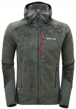 Montane Wolf Hooded Fleece Hiking Jacket, L Shadow