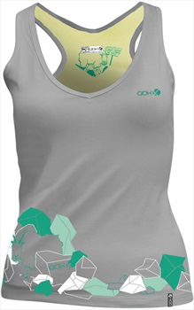 ABK Womens Myotonic Tank Women's Rock Climbing Vest, L Light Grey